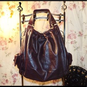 Marc Jacobs Large Burgundy Leather Tote